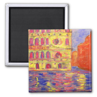 venice canal light square magnet