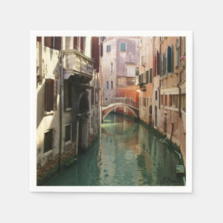 Venice Canal Paper Napkin