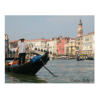 Venice Canal with Bridge Postcard