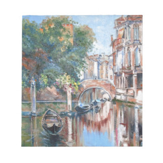 Venice canals notepad