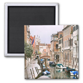 VENICE CANALS SQUARE MAGNET