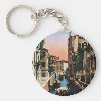 Venice canals, VIntage image Key Chain