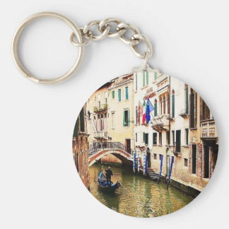 Venice Canel Basic Round Button Key Ring