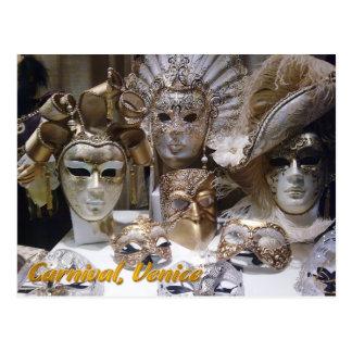 Venice Carnaval masks Postcard