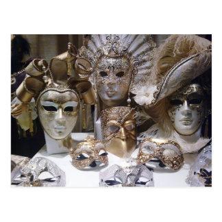 Venice Carnival Masks Postcard