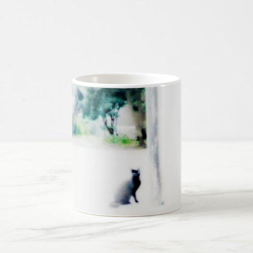 venice cat white coffee mug