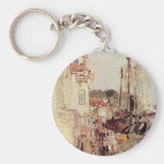 Venice. Channals. by Vasily Polenov Basic Round Button Key Ring