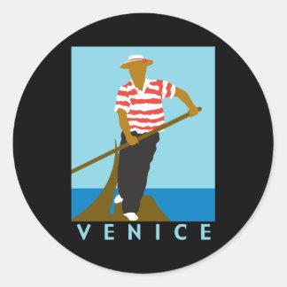 Venice Classic Round Sticker