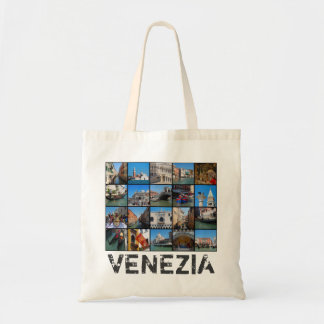 Venice collage tote bag