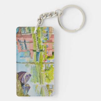 Venice Colors Double-Sided Rectangular Acrylic Key Ring