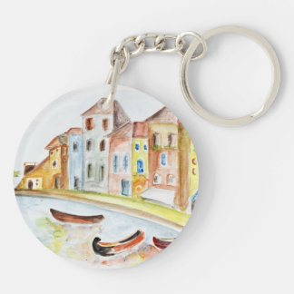Venice Concept Double-Sided Round Acrylic Key Ring