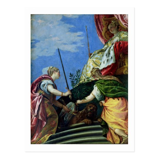 Venice enthroned between Justice and Peace Postcard