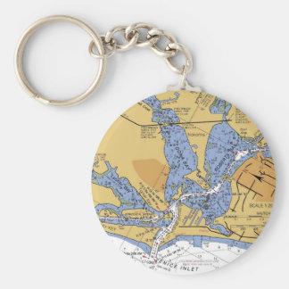 Venice, Florida nautical Harbor chart Keychain