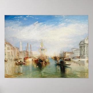 Venice, from the Porch of Madonna della Salute Poster