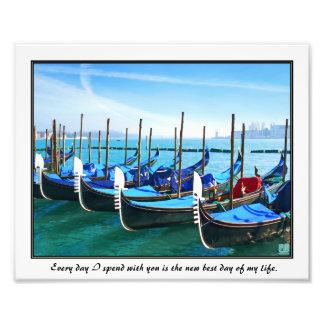 Venice Gandola with Love Quote Photo Art