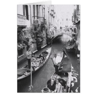 Venice Gondola Romantic Italy Greeting Note Card