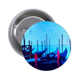 Venice Gondolas 6 Cm Round Badge
