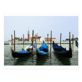 Venice gondolas postcard