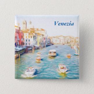 Venice Grand Canal 15 Cm Square Badge