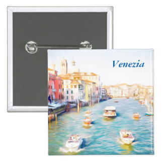 Venice Grand Canal 15 Cm Square Badge