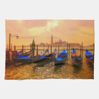 Venice Grand Canal & Gondolas Italy Travel Artwork Tea Towel