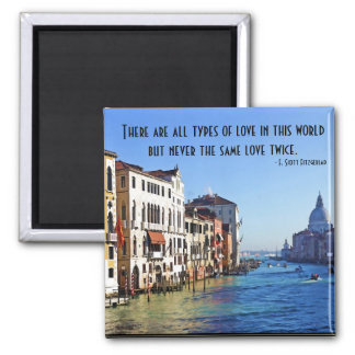 Venice Grand Canal with Love Quote Magnet