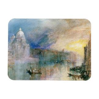 Venice: Grand Canal with Santa Maria della Salute Rectangle Magnets