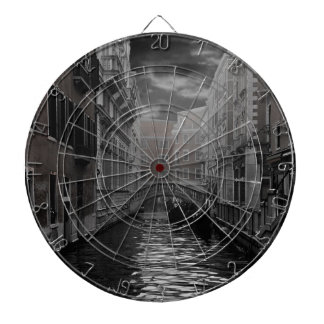 Venice in Black and White Dartboard