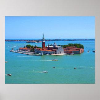 Venice - Island off San Giorgio Maggiore Poster