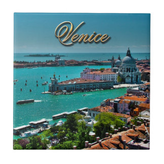 Venice, Italy - Aerial View Small Square Tile