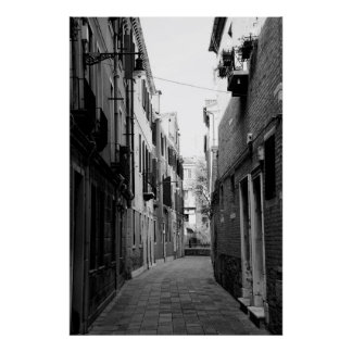 Venice Italy alley Poster