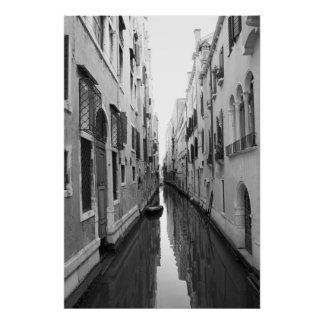Venice Italy alley waterway Poster