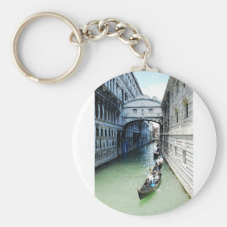 venice, italy basic round button key ring