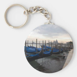 Venice Italy Basic Round Button Key Ring