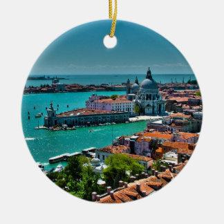 Venice, Italy - Bird's Eye View Ceramic Ornament