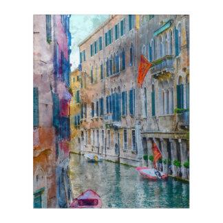 Venice Italy Boats in the Grand Canal Acrylic Wall Art