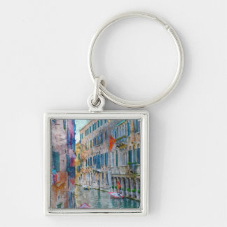 Venice Italy Boats in the Grand Canal Key Ring