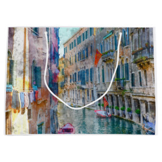 Venice Italy Boats in the Grand Canal Large Gift Bag