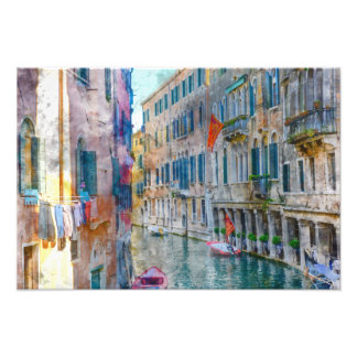 Venice Italy Boats in the Grand Canal Photo Print
