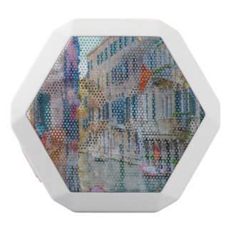 Venice Italy Boats in the Grand Canal White Bluetooth Speaker