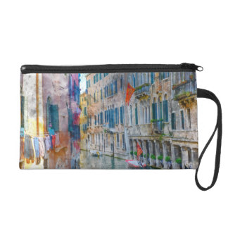 Venice Italy Boats in the Grand Canal Wristlet