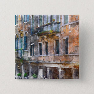 Venice Italy Buildings 15 Cm Square Badge