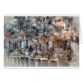 Venice Italy Buildings Card
