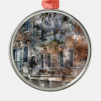 Venice Italy Buildings Metal Ornament