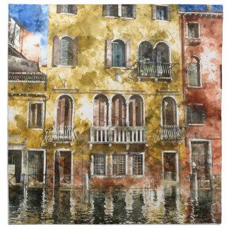Venice Italy Buildings Napkin