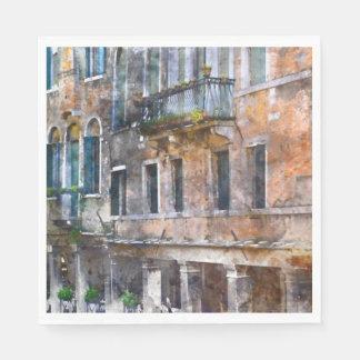 Venice Italy Buildings Paper Napkin