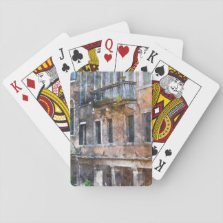 Venice Italy Buildings Playing Cards