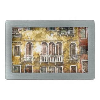 Venice Italy Buildings Rectangular Belt Buckle