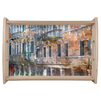 Venice Italy Buildings Serving Tray