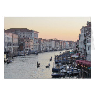 Venice, Italy Canal at Sunset Card
